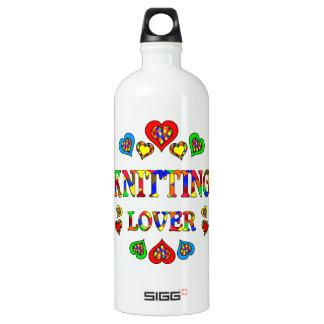 Knitting Lover Aluminum Water Bottle