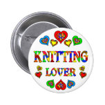 Knitting Lover Buttons