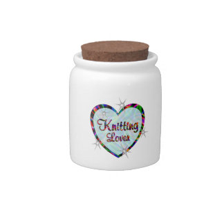Knitting Lover Candy Jar