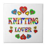 Knitting Lover Ceramic Tile