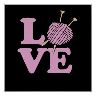 Knitting LOVER Poster