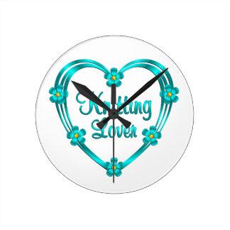 Knitting Lover Round Clock