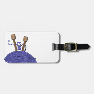 KNITTING LUGGAGE TAG