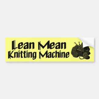 Knitting Machine Bumper Sticker
