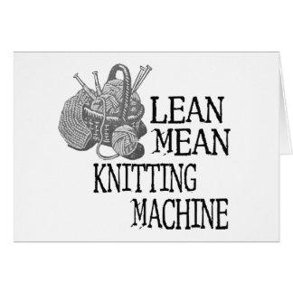 Knitting Machine Greeting Card