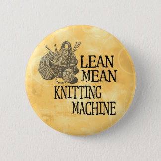 Knitting Machine Pinback Button