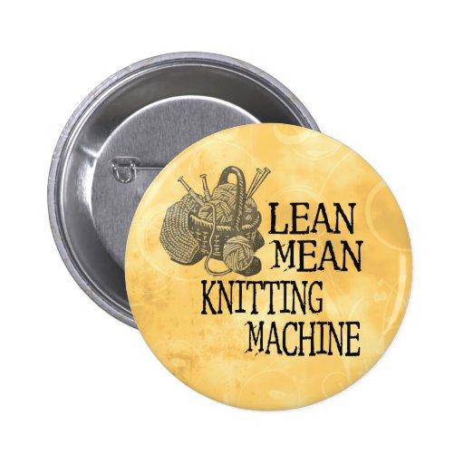 Knitting Machine Pinback Button
