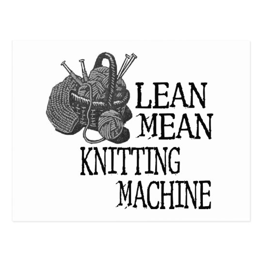 Knitting Machine Postcard
