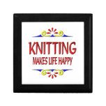 Knitting Makes Life Happy Jewelry Boxes
