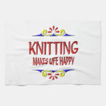 Knitting Makes Life Happy Kitchen Towels