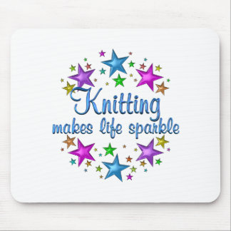 Knitting Makes Life Sparkle Mouse Pad
