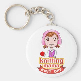 Knitting Mama Keychain