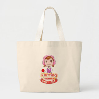 Knitting Mama Large Tote Bag