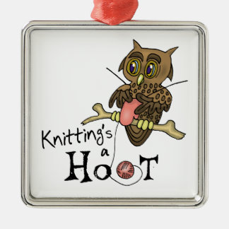 Knitting Metal Ornament