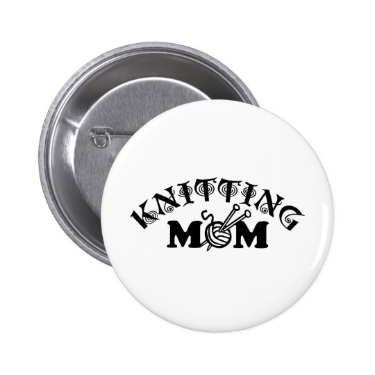 Knitting Mom Button