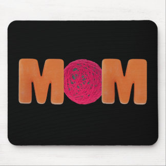 Knitting Mom Mouse Pad