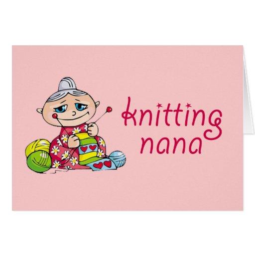 Knitting Nana Card