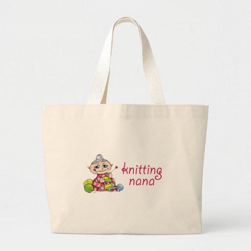 Knitting Nana Jumbo Tote Bag