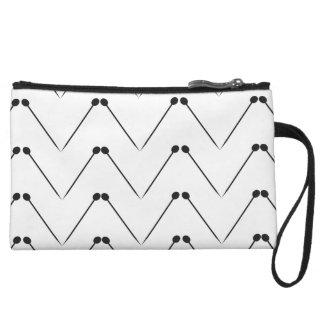 Knitting Needle Chevron Pattern Wristlet Wallet