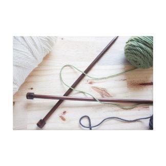 Knitting Needles Canvas Print