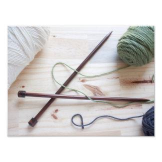 Knitting Needles Photo Print