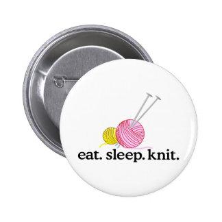 Knitting Needles & Yarn Button