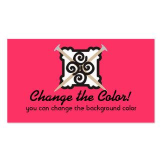 Knitting needles yarn custom color business card