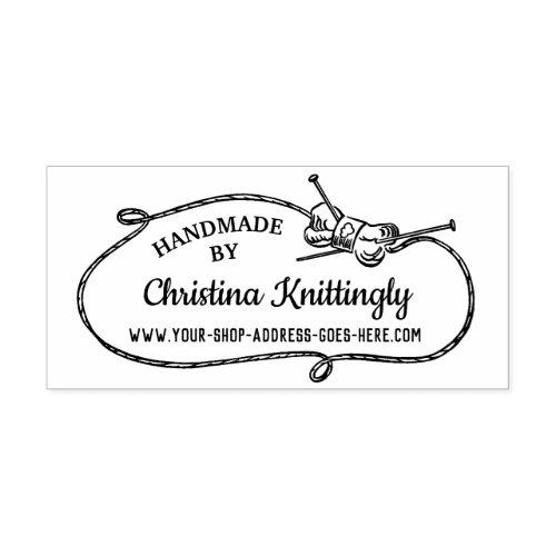 Knitting Needles Yarn Frame  Handmade By Custom Rubber Stamp