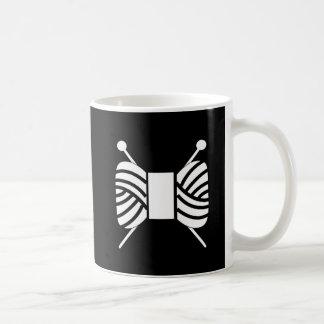 Knitting Needles Yarn Skein Crafts Coffee Mug