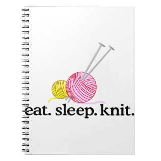 Knitting Needles & Yarn Spiral Notebook