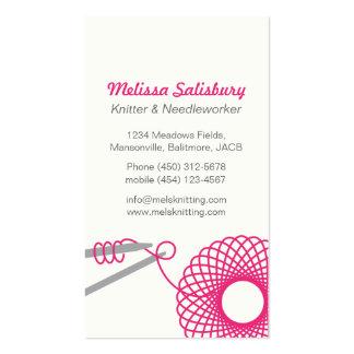 Knitting needlework business cards