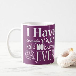 Knitting ♥ Not Enough Yarn Crafts Coffee Mug
