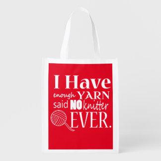 Knitting • Not Enough Yarn Crafts Grocery Bag