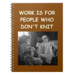 knitting note book