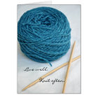 Knitting Note Card - Live well. Knit often.