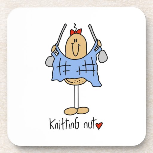 Knitting Nut T-shirts and Gifts Beverage Coaster