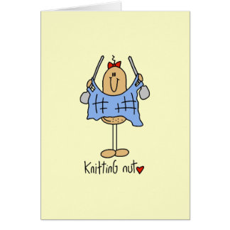 Knitting Nut T-shirts and Gifts Stationery Note Card