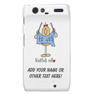 Knitting Nut T-shirts and Gifts Motorola Droid RAZR Cover