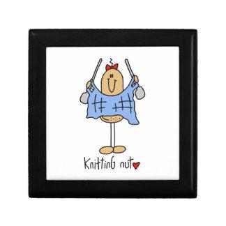Knitting Nut T-shirts and Gifts Keepsake Boxes