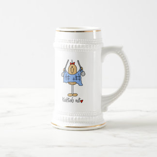 Knitting Nut T-shirts and Gifts 18 Oz Beer Stein