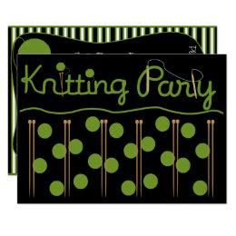 Knitting Party Invitation