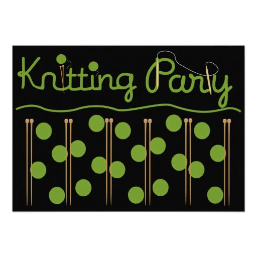 Knitting Party Theme : Knitting party invitation quot card zazzle