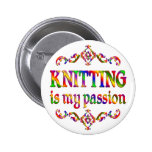 Knitting Passion Button