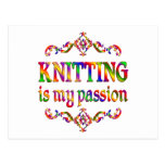Knitting Passion Postcard