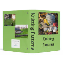Knitting Pattern Book 3 Ring Binder