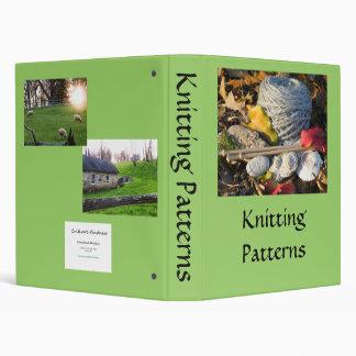 Knitting Pattern Book 3 Ring Binder