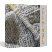 Knitting Patterns Binder