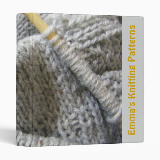 Knitting Patterns Binder
