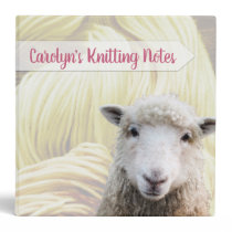 Knitting Patterns Notes Lamb Sheep Yarn 3 Ring Binder