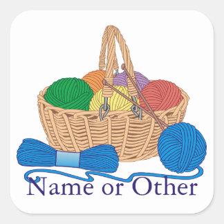 Knitting Personalized Sticker